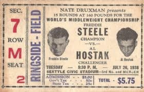 Freddie Steele vs. Al Holstak was contested for the middleweight championship of the world.