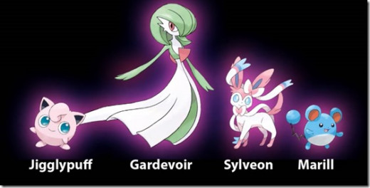 Just a few Fairy Type Pokemon