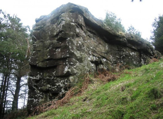 Hanging Stone, up in the woods to the south of Guisborough