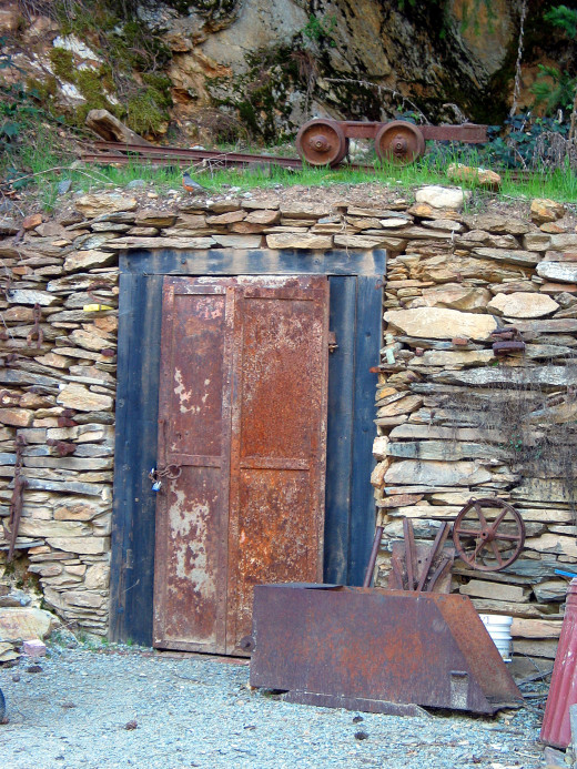 Mine Shaft Door... Downieville, CA