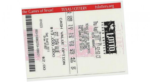 A quick-pick ticket for Lotto Texas with two number selections.