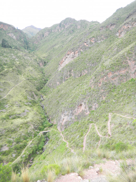 The way down to Pisac market