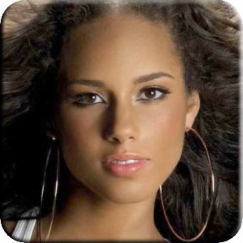 Singer And Actress Alicia Keys.