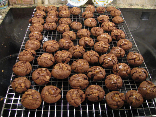 A Finished Batch of For Chocolate Lovers Only Cookies