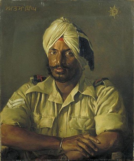 Sikh - Atma Singh  image: Half length portrait of Atma Singh, wearing uniform and turban.  World War II, 1943