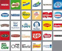 These represent only a few of Nestle brands.
