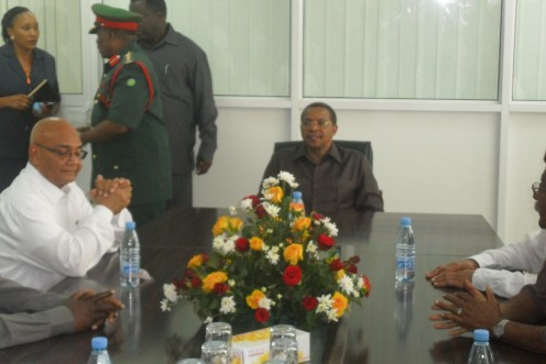 President of The Republic Of Tanzania, H.E. J. Kikwete listening in during a community meeting.