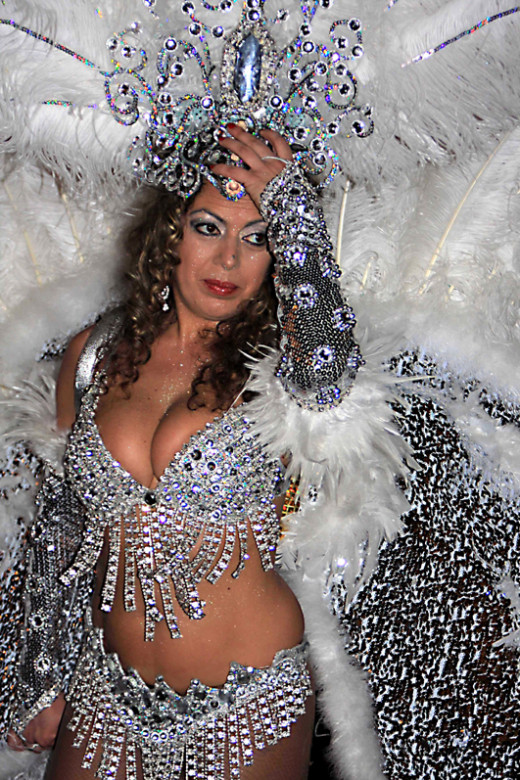 Extravagant and flambuoyant costumes are the order of the day