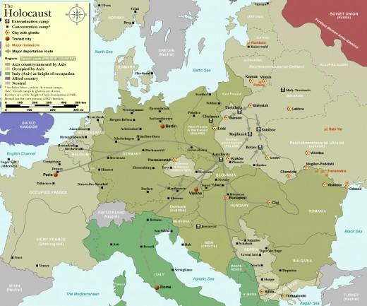 Ghettos were established across Europe where Jews waited to be shipped to concentration camps.