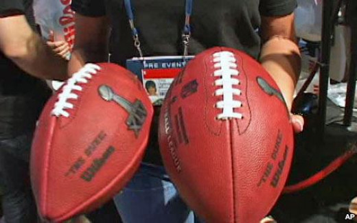 The footballs for the Super Bowl are made right after the championship playoffs.