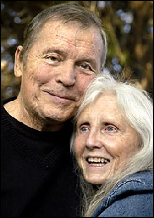 Tom Laughlin and his wife Delores in 2005 when they were planning another Billy Jack movie