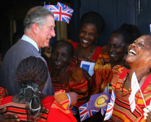 HRH, Prince Charles sharing a joke with the group members when he paid a visit in 2007.