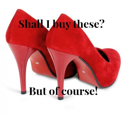 Women love to purchase a nice set of pumps.