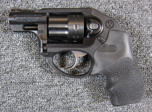 Ruger LCR double-action revolver in .22 caliber.