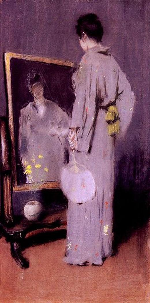 Making Her Toilet 1889 Chase William Merritt