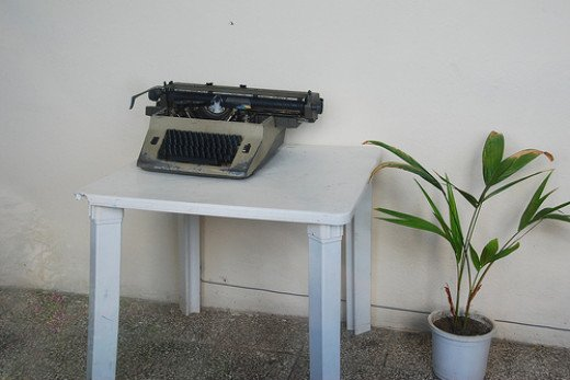 Typewriter no more--all an author needs today is Microsoft Word.