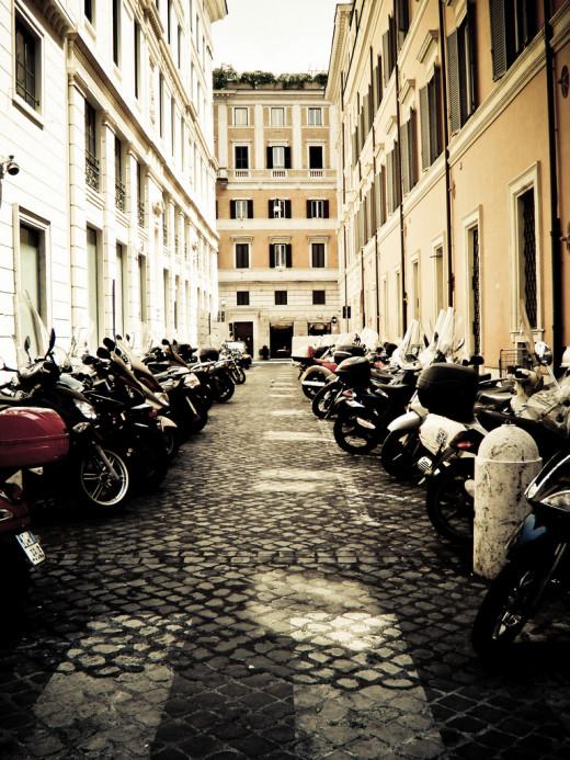 Typical Italian Street Scene