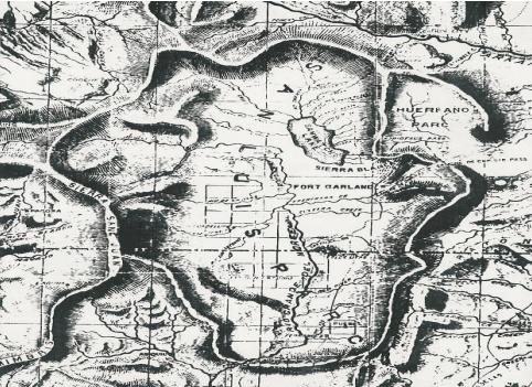 1869 Map of Colorado Territory