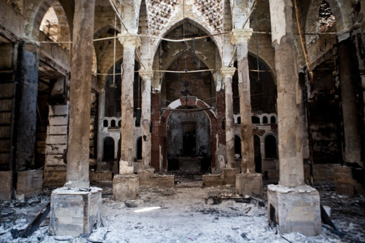 While this church was destroyed by Islamic radicals, many churches are just as desolate with their teachings.