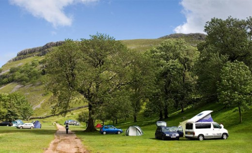 Campsite by the mouth of Gordale Scar, and then on to...