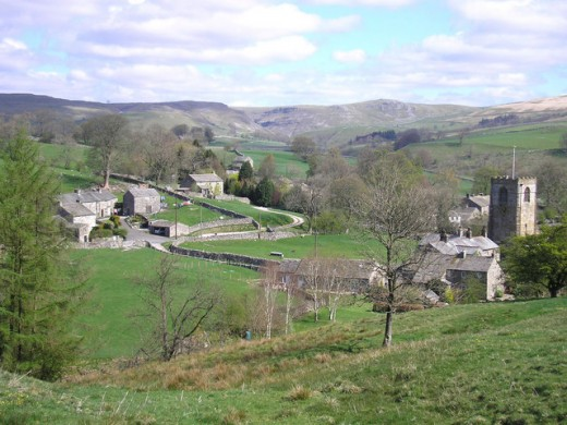 Kirkby Malham village to the south west of Malham