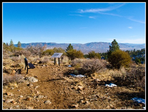 The vista 1.3 miles from the trailhead has excellent views of Washoe Valley to the southeast.