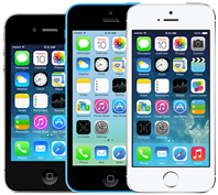 iPhone 4S,5C and 5S all compatible with iOS 6