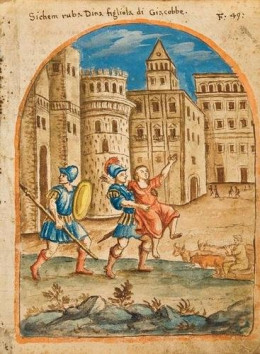 """Shechem seizes Dinah"" - 17th century by Italian Anonymous (17th century)."