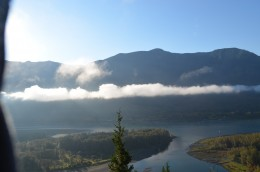 A beautiful morning hiking Beacon Rock near Skamania, Washington.