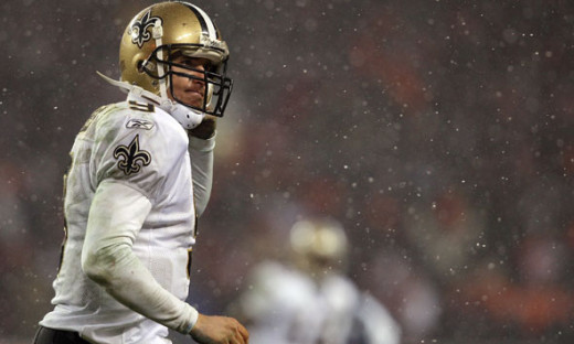 Drew Brees and the Saints won't have to deal with snow Saturday night, but the temperature will be in the low 20s