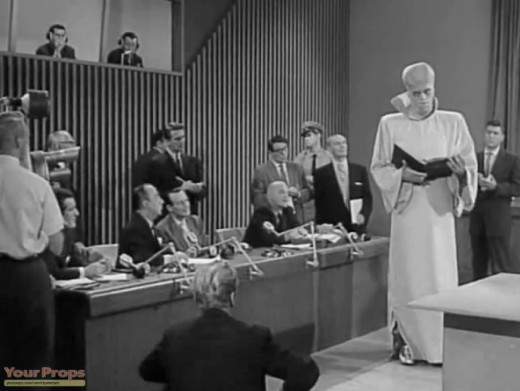 "Scene from the episode ""To Serve Man."""
