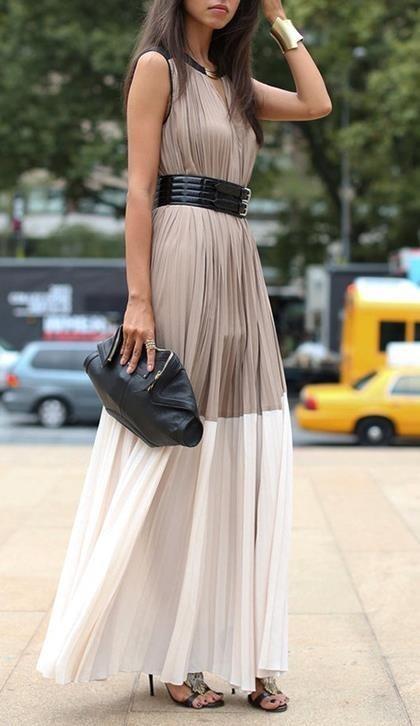 Woman in elegant dress