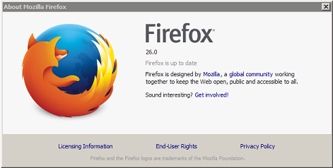 """Update Firefox From """"About"""" information Window."""