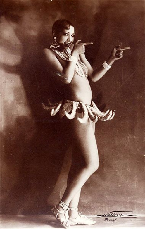 "Josephine Baker in Banana Skirt from the Folies Bergère production ""Un Vent de Folie"""