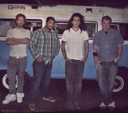 Wayback Whensday band members: starting at far left Logan Pepper, James Wilson, Travis Cockerham and Jason Amey.