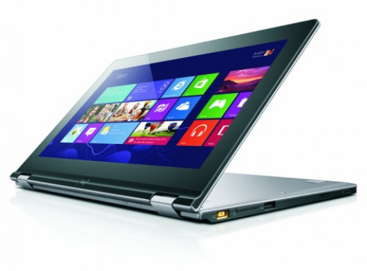 The Lenovo IdeaPad Yoga: A laptop that flips over to become a tablet