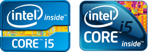 The logo of the previous generations of Intel Core i5 processors