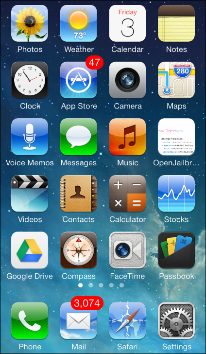IOS 6 to IOS 7 theme