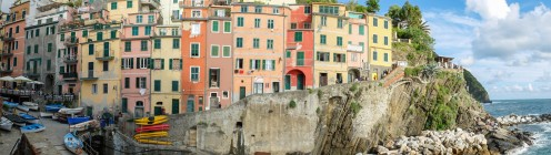 Panorama of the 'Case Torri' at Riomaggiore