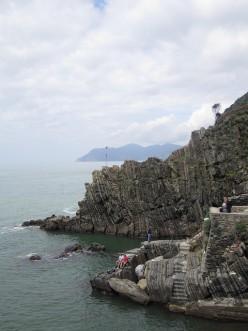 Rocks at the shore of Riomaggioe