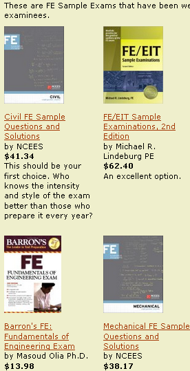 Click the link to find the highest rated, most current FE exam materials.