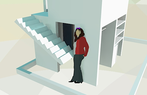 Lift the stairs to gain access to some hidden storage