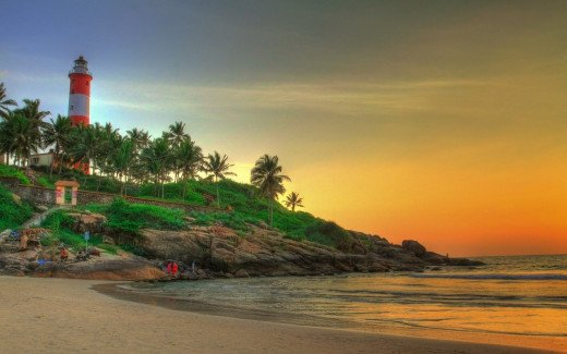 Sunset At The Kovalam Beach.
