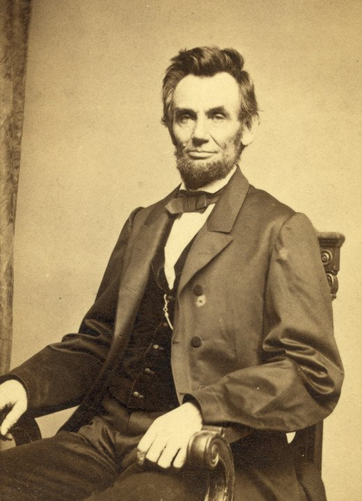 The 16th President of the United States has a very recognizable face.