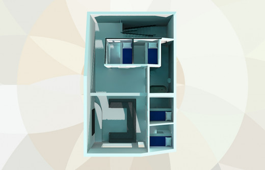 Large family house on small plot. Floor plan for the 3rd floor.