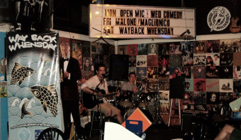 Wayback Whensday playing outside at Bird's Aphrodisiac Oyster Bar in Tallahassee, Fla.