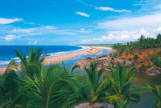 Aerial View Of Marari Beach.
