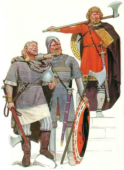 Varangian guardsmen were there to protect the emperor. When he went on campaign they formed the spearhead of an attack on Byzantium's enemies - Slavs or Turks, even other Norsemen