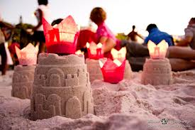 Sand castles are great fun for kids to build