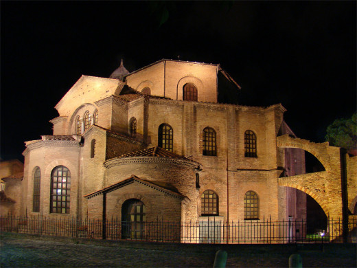 The Basilica of San Vitale in Ravenna, Italy, an example of Byzantine period architecture